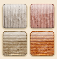 Wooden backgrounds for the app icons vector image