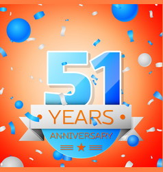 Fifty one years anniversary celebration vector