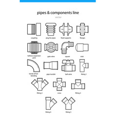 Pipes and components vector