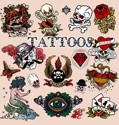 Tattoos 12 vector image