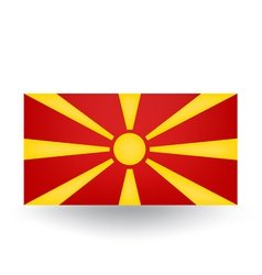 Macedonia flag vector