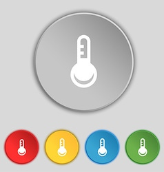 Thermometer temperature icon sign symbol on five vector