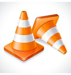 Traffic cones vector