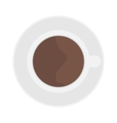 Cup coffe top view vector