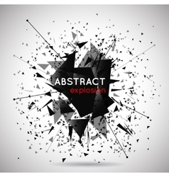 abstract black explosion background vector image