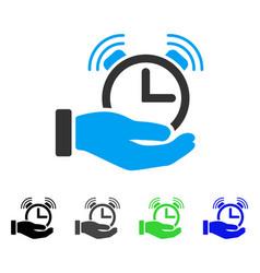 Alarm service flat icon vector