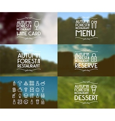 Badges and foods icons for restaurant vector