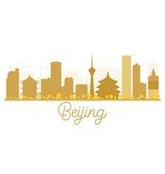 Beijing city skyline golden silhouette vector