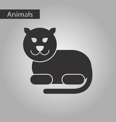 black and white style icon panther vector image
