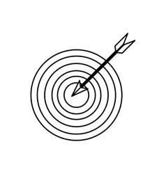 Bullseye with arrow in the center vector