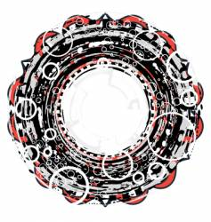 circular grunge vector image