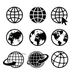 Earth icon element nasa vector