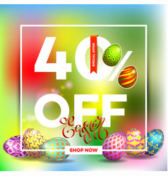 Easter egg sale banner background template 26 vector