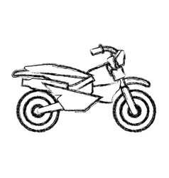 Enduro motorcycle silhouette vector