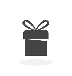 Gift icon logo on white background vector