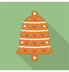 Gingerbread bell vector