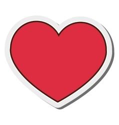 heart cartoon icon vector image vector image