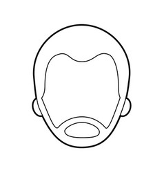 man avatar face male smiling image vector image