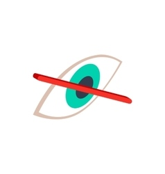 No eye sight icon isometric 3d style vector image vector image