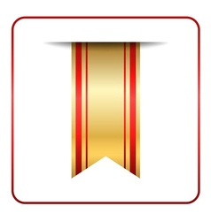 Red gold bookmark banner isolated vector image