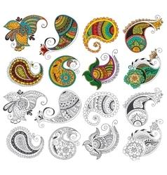Tattoo henna element vector