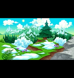 View on the mountains vector