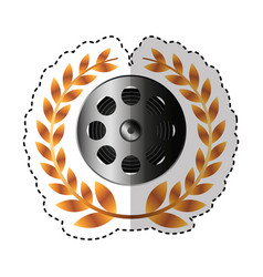Reel tape record isolated icon vector