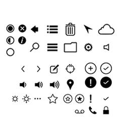 Minimalist UI icons vector image