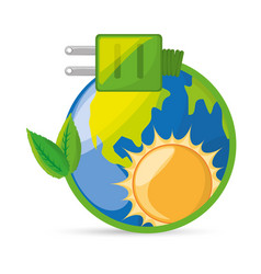Save energy for the planet conservation vector