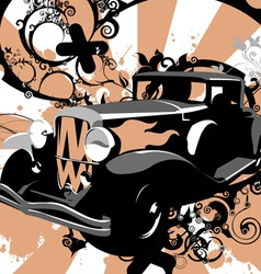 retro hot rod vector image