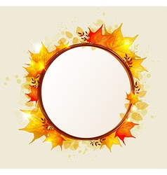 Abstract round autumn banner vector