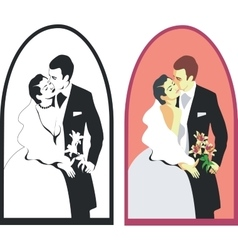 Wedding couple 02 vector