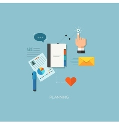 Startup launching process flat web infographic vector image