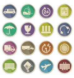 Cargo shipping icons vector