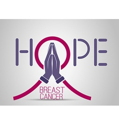 Icon breast cancer vector