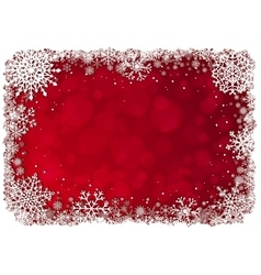 Christmas frame over red background vector