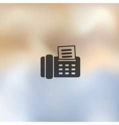 Fax icon on blurred background vector