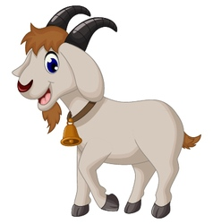 Cartoon goat smiling vector