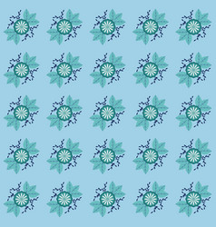 Background flowers are blue vector