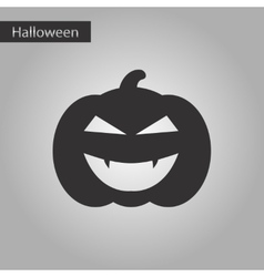 black and white style icon halloween pumpkin vector image
