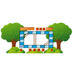Boardgame template with trees in background vector