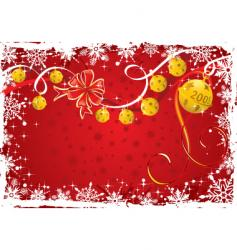 Christmas background frame vector image vector image