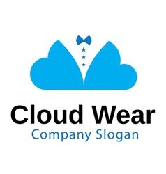 Cloud wear design vector