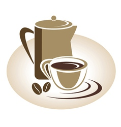Coffee menu icon vector image