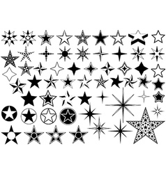 Collection of Star vector image