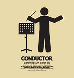 Conductor With Music Stand Symbol vector image vector image