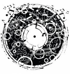 disk grunge vector image vector image