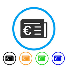 euro banking news rounded icon vector image