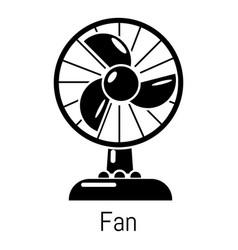 fan icon simple black style vector image vector image