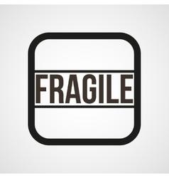 Fragile open envelope horn icon simple vector